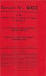 S. L. Nusbaum and Company, Inc., v. Atlantic Virginia Realty Corporation