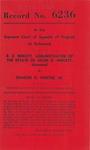 R. E. Neblett, Administrator of the Estate of Helen G. Neblett, deceased, v. Charles G. Hunter, Jr.