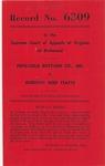 Pepsi-Cola Bottling Company, Inc., v. Dorothy Reed Yeatts