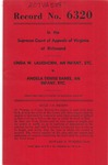 Linda W. Laughorn, an Infant, etc., v. Angela Denise Eanes, an Infant, etc.