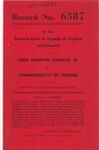 Lewis Hampton Shumate, Jr., v. Commonwealth of Virginia