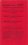 Thomas N. Gasque, Executor, etc., et al., v. Frederick B. Sitterding, III, et al., etc.