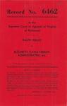 Ralph Kelley v. Elizabeth Gayle Henley, Administratrix, etc.