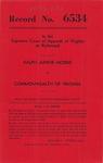 Ralph Junior Morris v. Commonwealth of Virginia