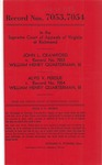 John L. Crawford v. William Henry Quarterman, III; and, Alvis V. Perdue v. William Henry Quarterman, III