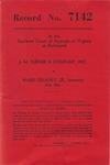 J. M. Turner & Company, Inc. v. Ward Delaney, Jr., formerly t/a Albemarle Sand and Gravel Co.