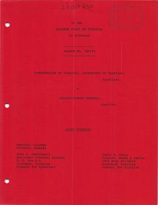 Virginia Supreme Court Records Volume 220 Virginia Supreme Court
