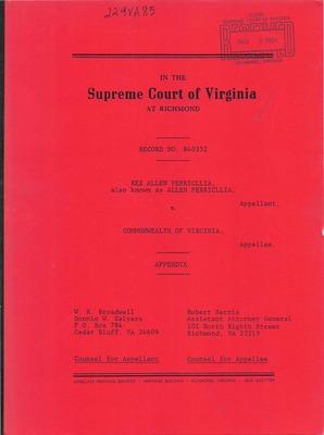 Virginia Supreme Court Records Volume 229 1985