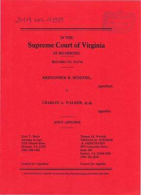 Virginia Supreme Court Records Volume 244 Virginia
