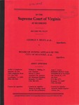 George F. Riles, et al. v. Board of Zoning Appeals of the City of Roanoke, et al.