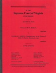 Wallace M. Bailey v. George F. Kerns, Administrator of the Estate of Edith M. Kerns, deceased, et al.
