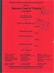 Tony Woodward and Susan K. Woodward v. Resource Bank; and, Donald N. Tillman v. Resource Bank