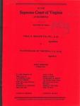 Charles E. Brauer Company, Inc., et al., v. NationsBank of Virginia, N.A., et al.
