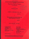 James E. Gregory, Sr., et al. v. The Board of Supervisors of Chesterfield County