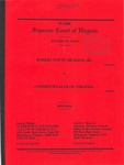 Robert Wayne Hickson, Jr. v. Commonwealth of Virginia