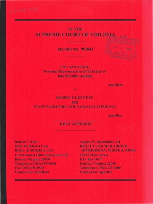 Virginia Supreme Court Records, Volume 259 | 2000