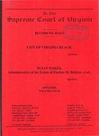 City of Virginia Beach v. Susan Oakes, Administratrix of the Estate of Pauline M. Belcher, et al.