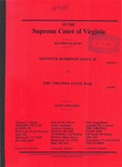 Kenneth Harrison Fails, II v. The Virginia State Bar