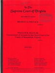 Bradley G. Pollack, Substitute Trustee v. William B. Allen, III, Commissioner of Accounts for the Circuit Court of Shenandoah County, Virginia