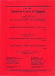 King George County Service Authority v. Presidential Service Company Tier II, Inc.; and Presidential Service Company Tier II, Inc. v. King George County Service Authority