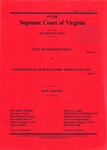 City of Martinsville v. Commonwealth Boulevard Associates, LLC