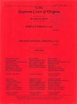 John J. Capelle, et al. v. Orange County, Virginia, et al.